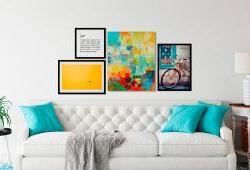 Quadros Decorativos: Dicas de como harmonizar na sua parede!   Bemcolar