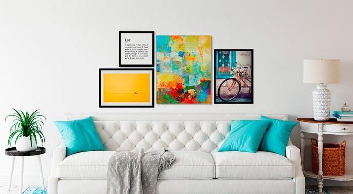 Quadros Decorativos: Dicas de como harmonizar na sua parede! | Bemcolar