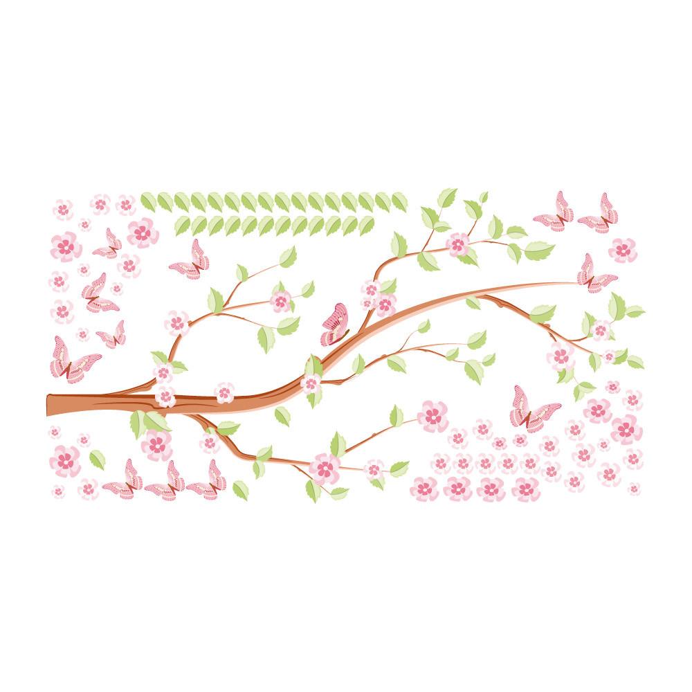 Adesivo de Parede Galhos e Folhas