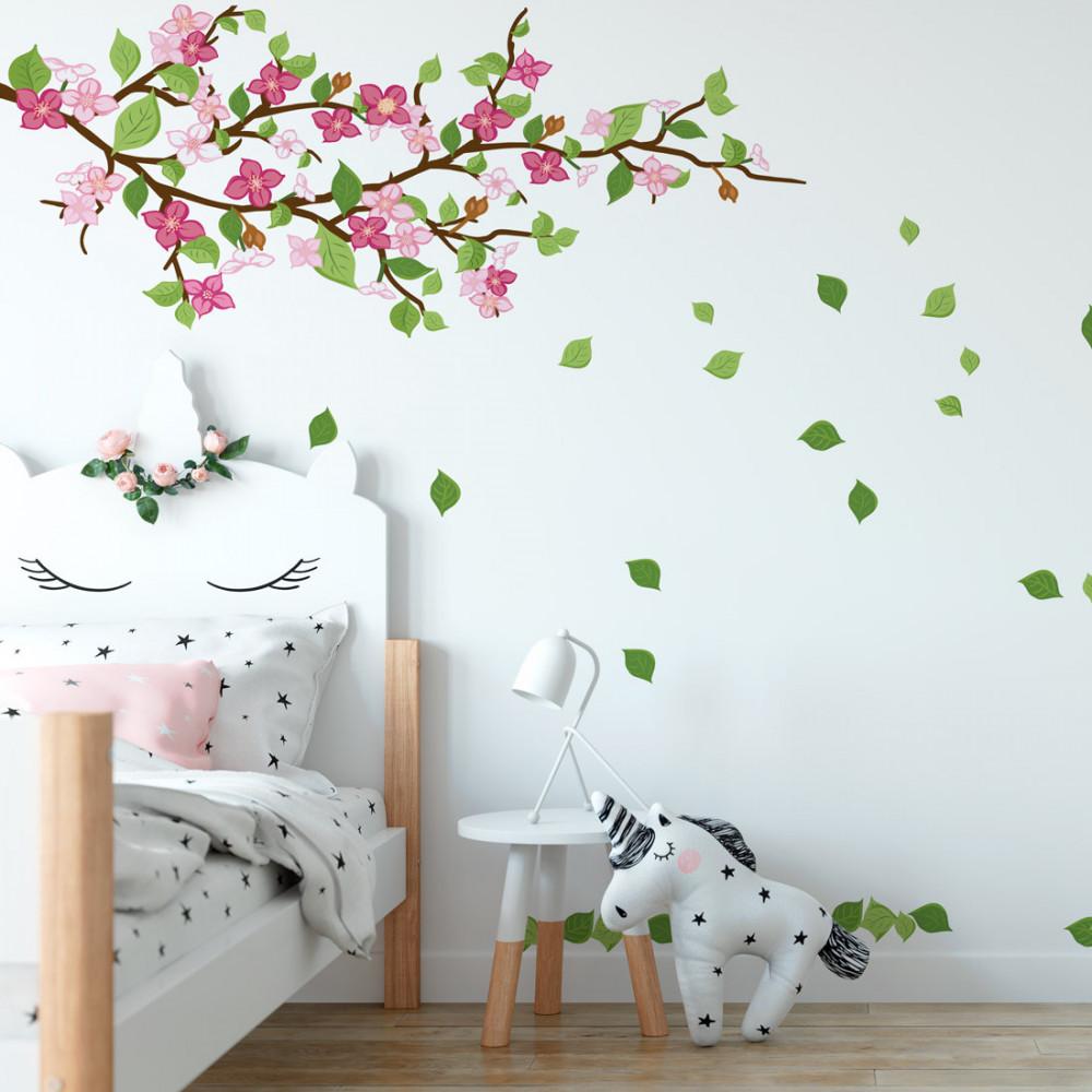 Adesivo de Parede Galho Floral Infantil