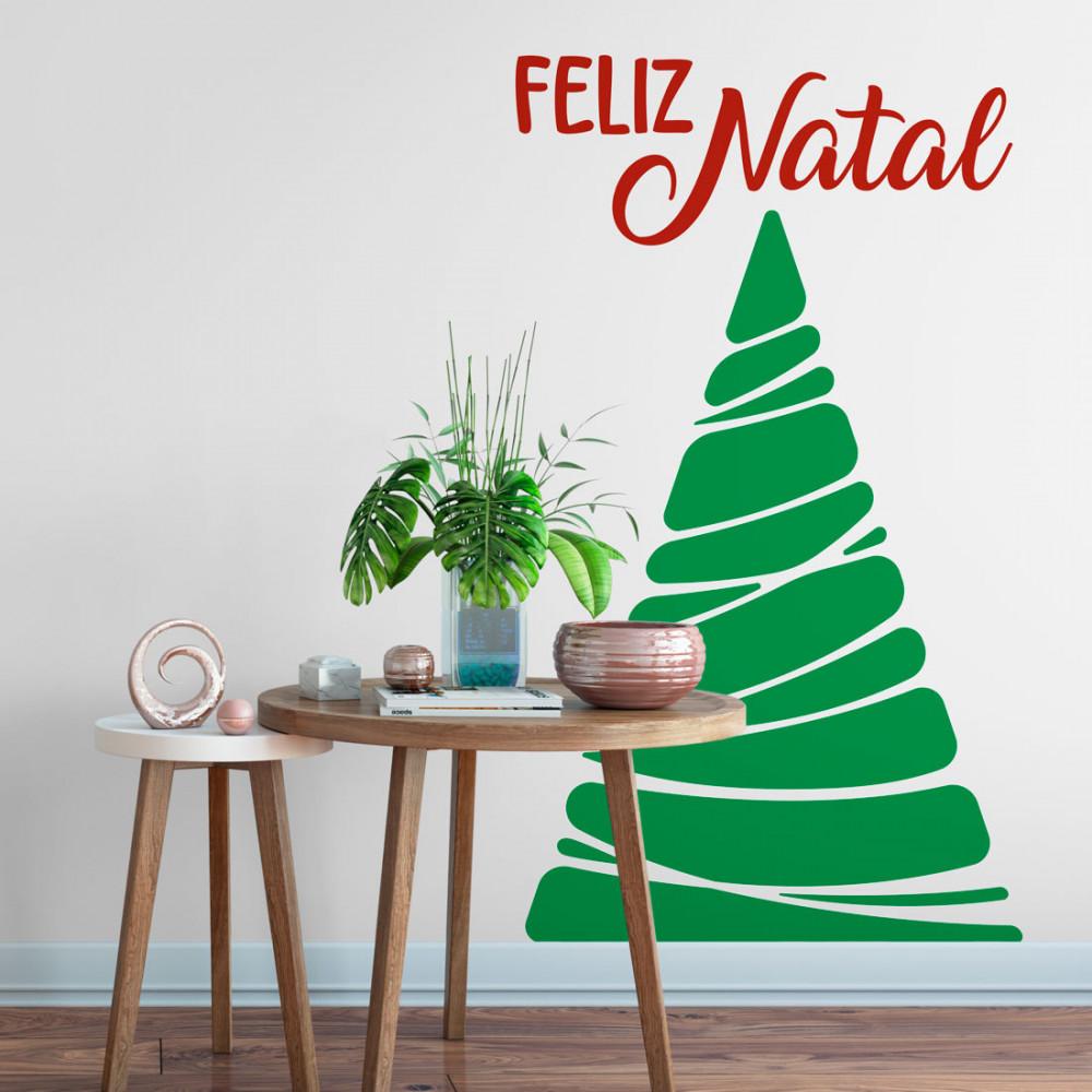 Adesivo de Parede Árvore de Natal Geométrica