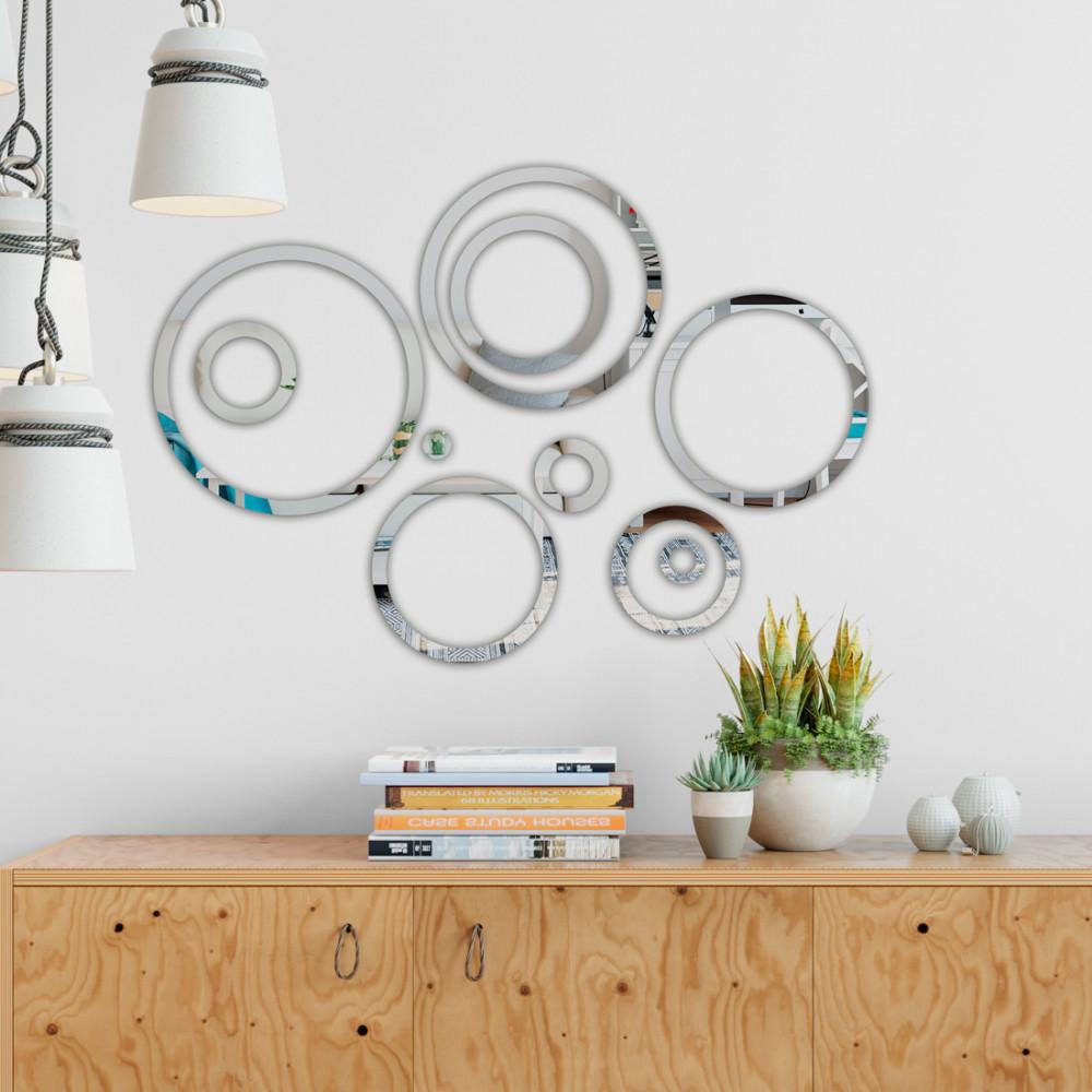 Espelho Decorativo Círculos Vazados