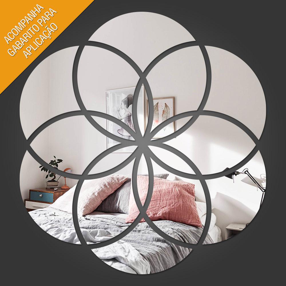 Espelho Decorativo Mandala Abstrata