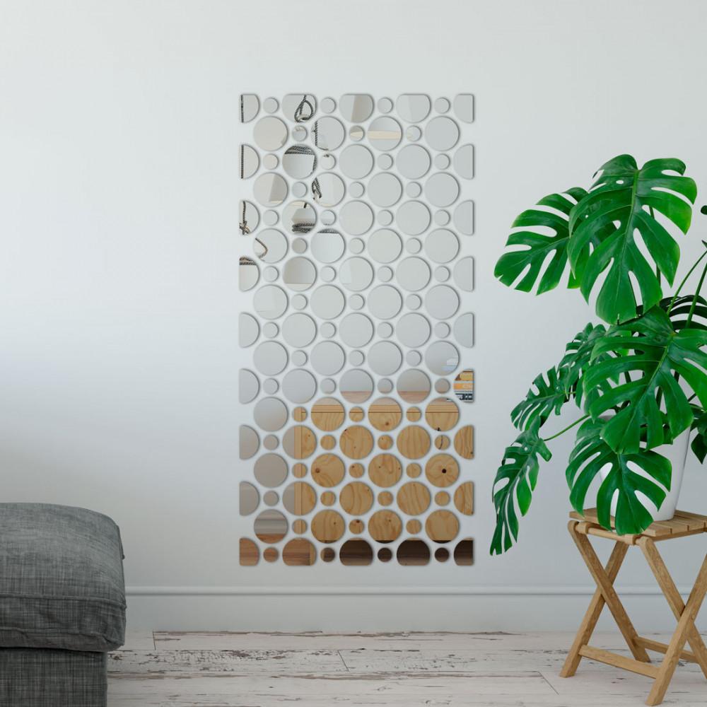 Espelho Decorativo Retângulo de Bolas