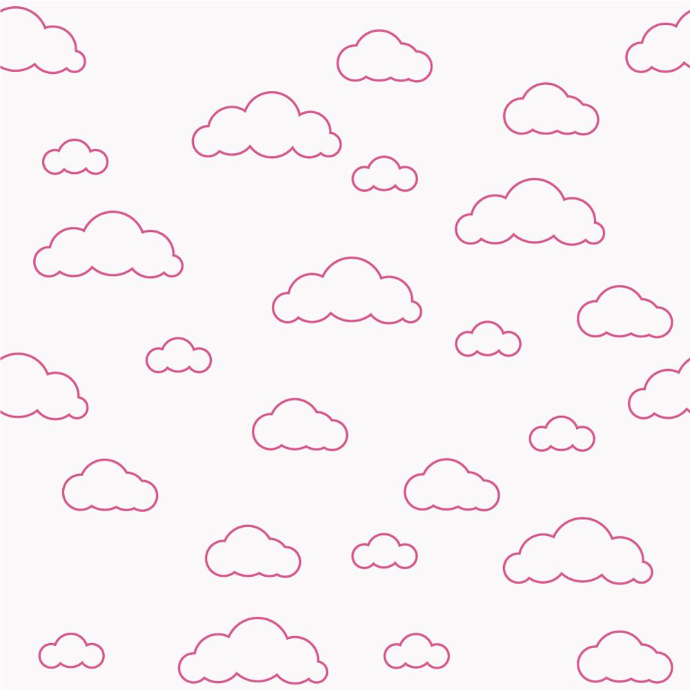Papel de Parede Nuvens Cor de Rosa