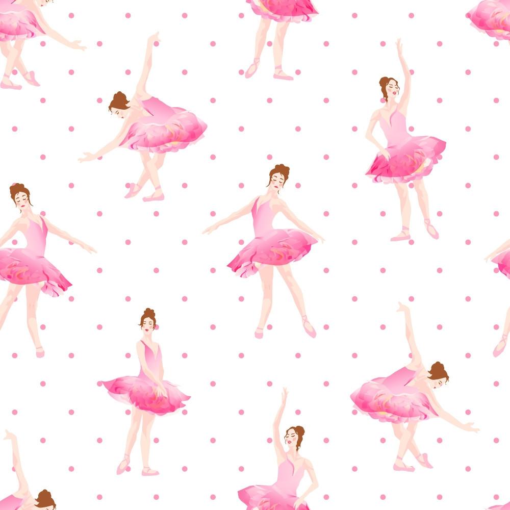 Papel de Parede Infantil Bailarinas