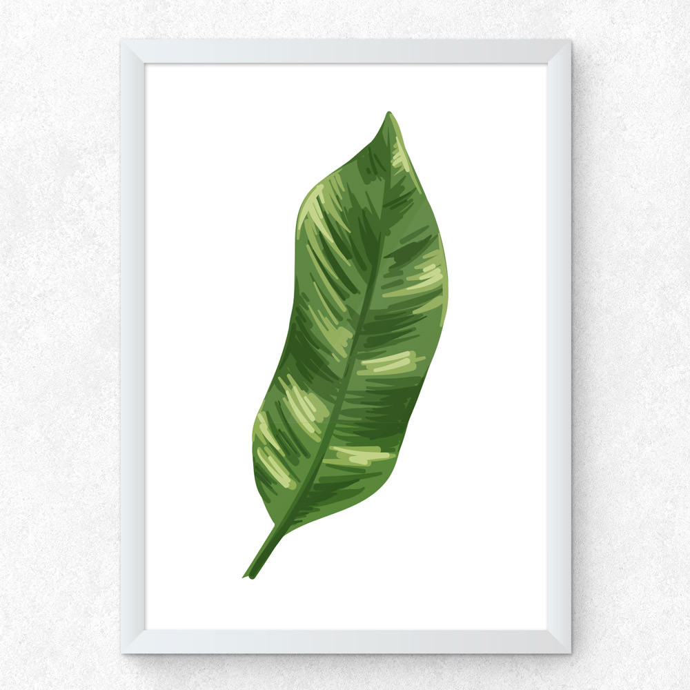 Quadro Decorativo Folha de Bananeira