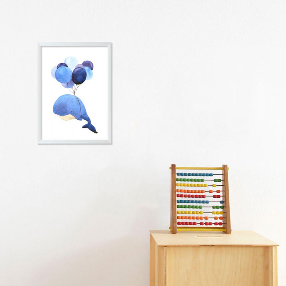 Quadro Decorativo Infantil Baleia