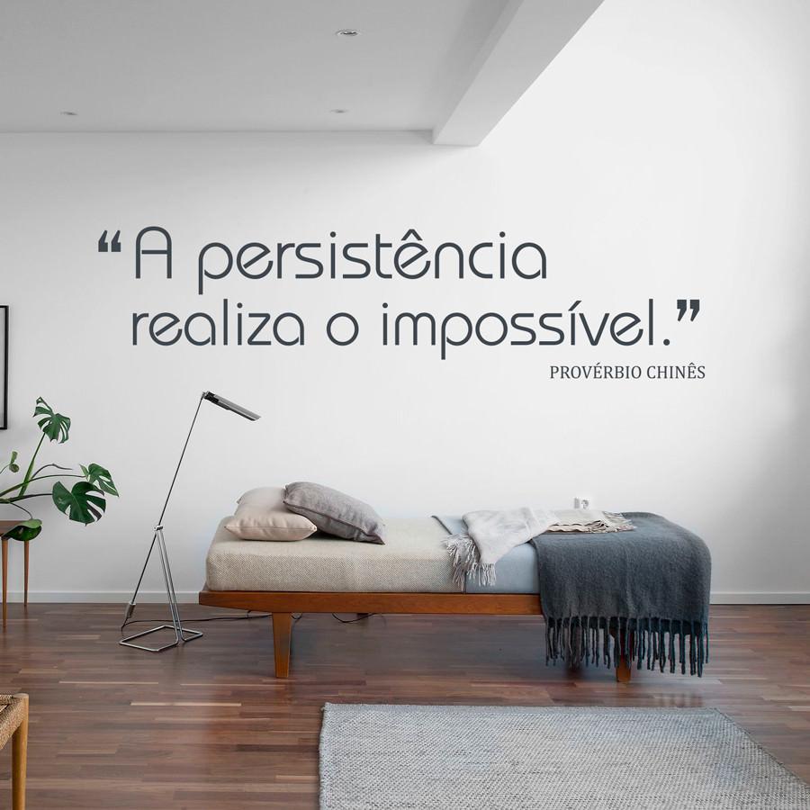 Adesivo de Parede A Persistência Realiza o Impossível