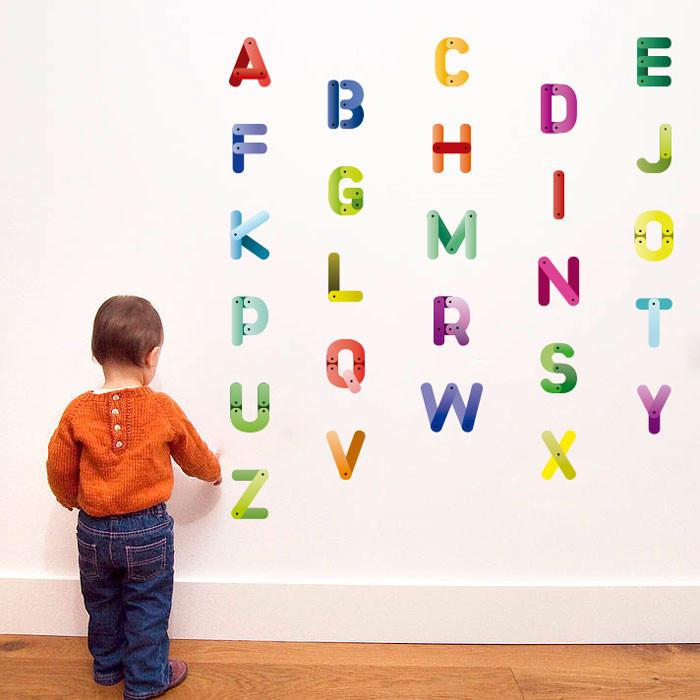 Adesivo Decorativo de Parede Alfabeto