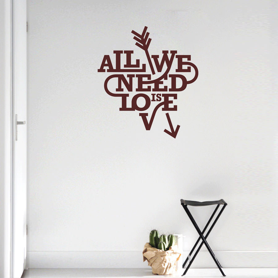 Adesivo Decorativo All You Need Is Love II