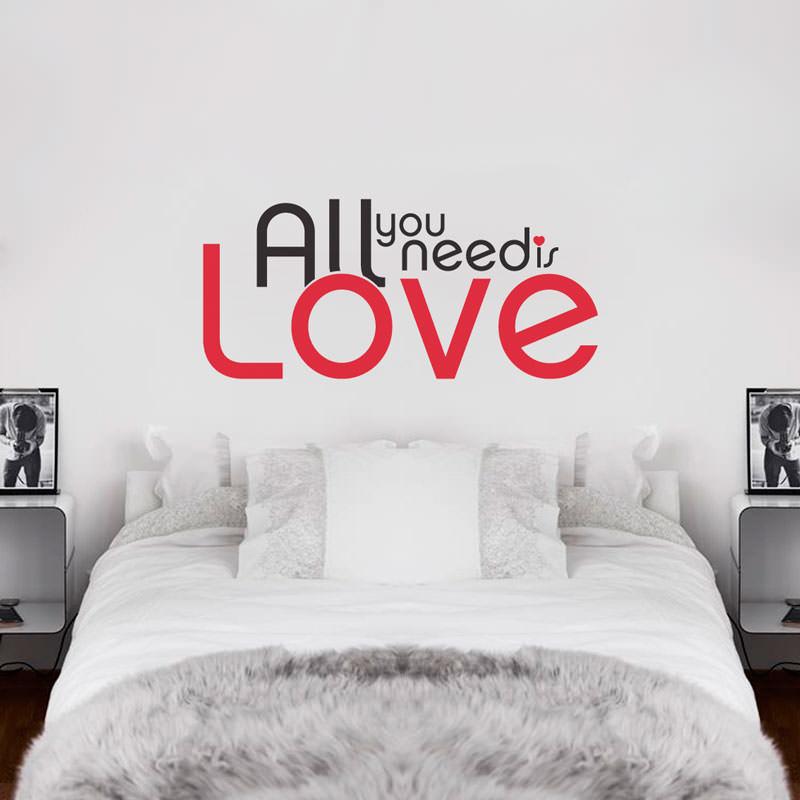 Adesivo Decorativo de Parede All You Need Is Love
