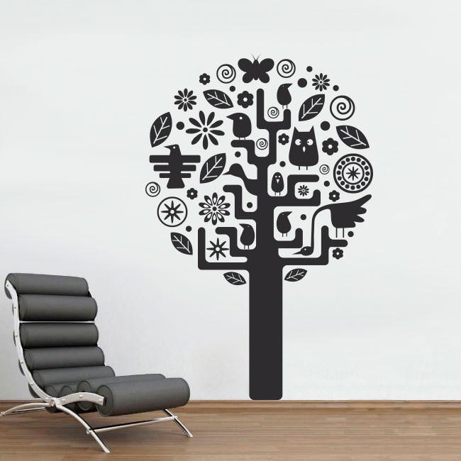 Adesivo Decorativo Árvore Abstrata II