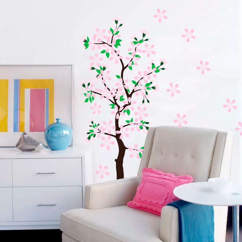 Adesivo Decorativo Árvore Com Flores