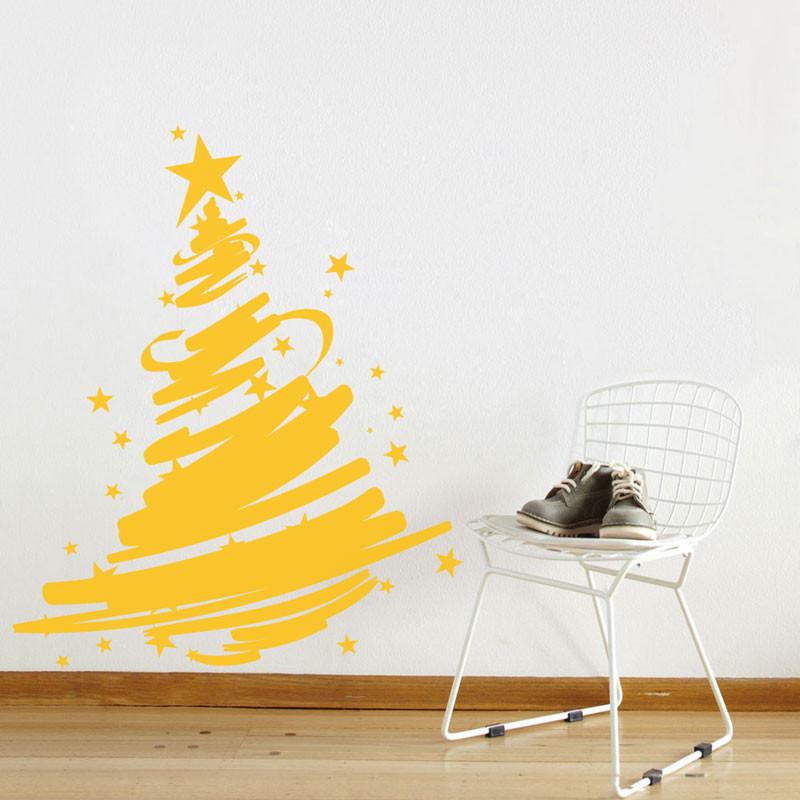 Adesivo de Parede Árvore de Natal Fitas