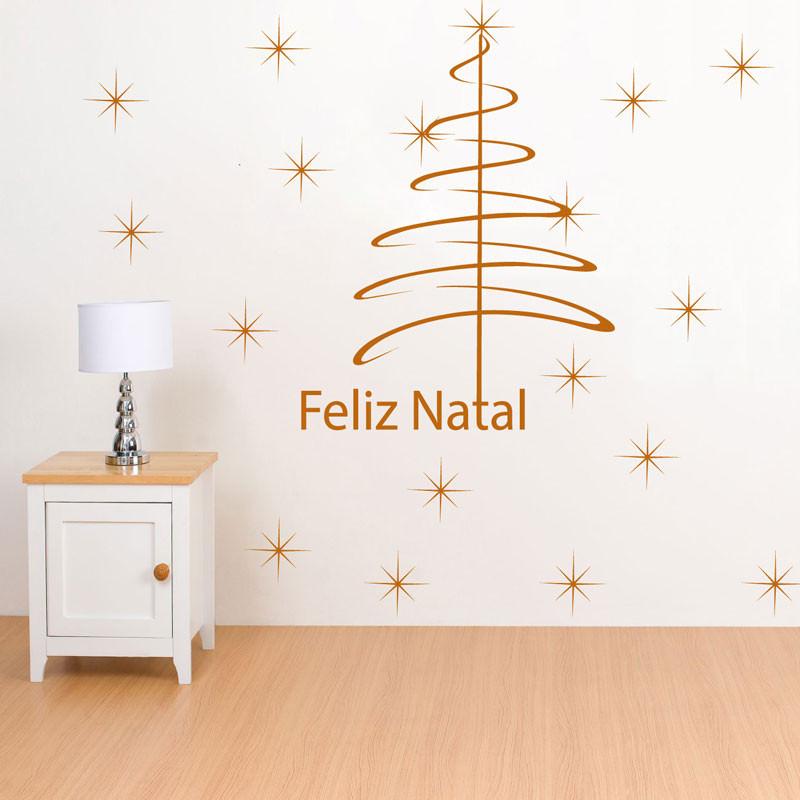 Adesivo Decorativo Árvore de Natal Estrelada