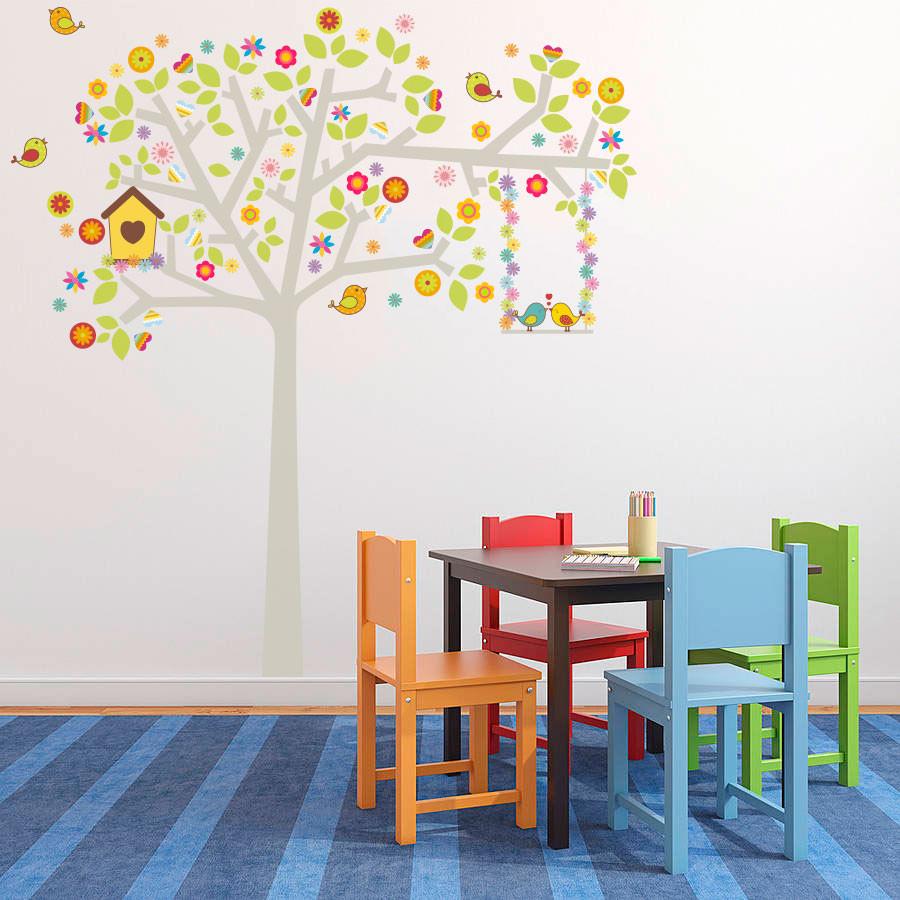 Adesivo Decorativo Árvore Pássaros Namorados