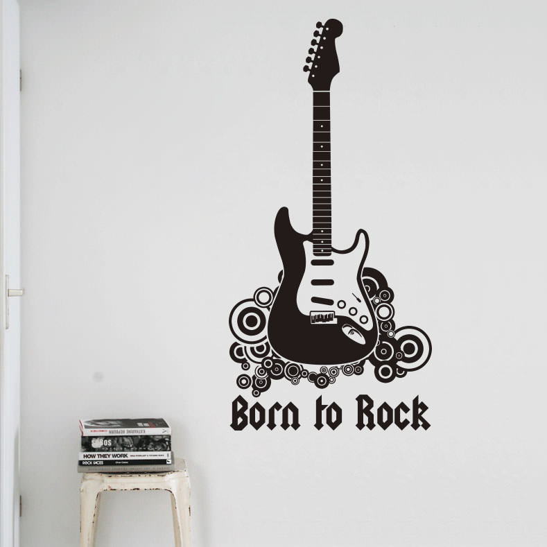 Adesivo Decorativo Born to Rock