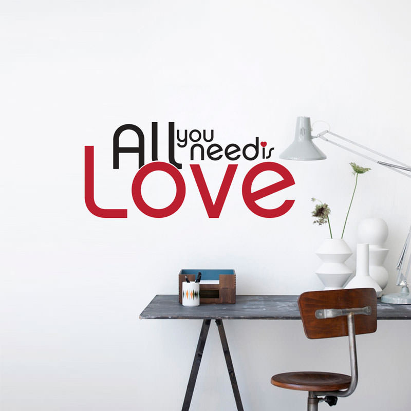 Adesivo Decorativo All You Need Is Love