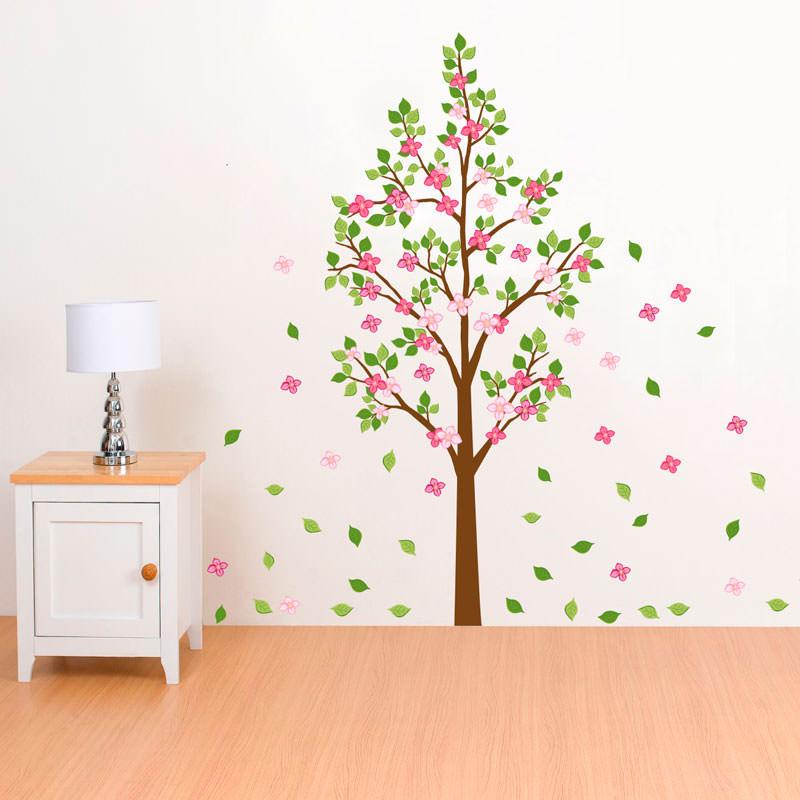 Adesivo Decorativo de Parede Árvore Colorida