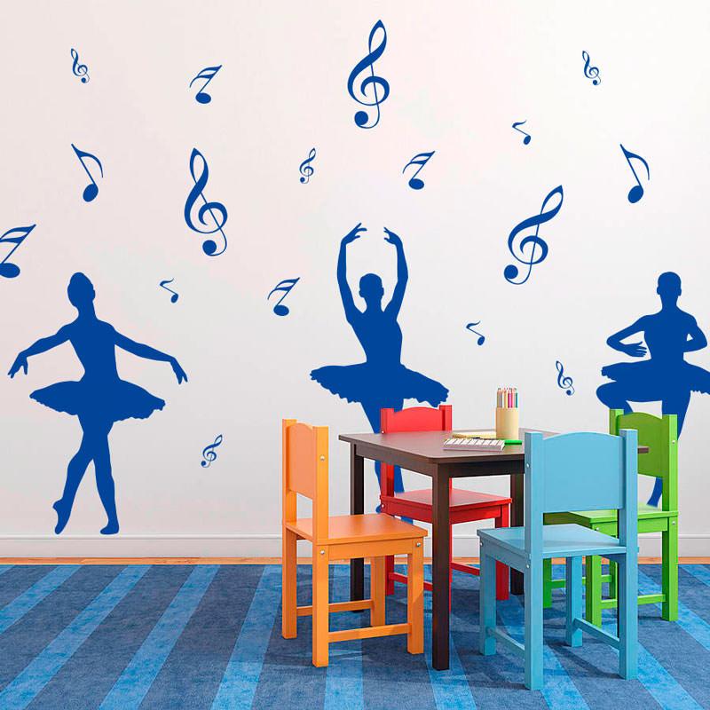 Adesivo de Parede Decorativo infantil Bailarinas