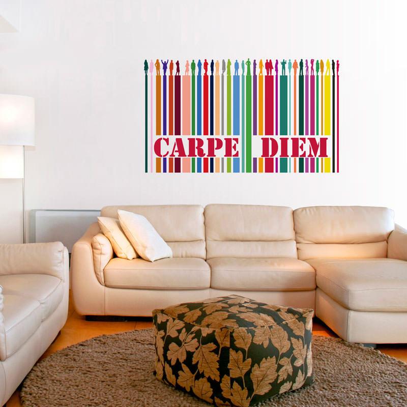Adesivo Decorativo de Parede Carpe Diem Colorido