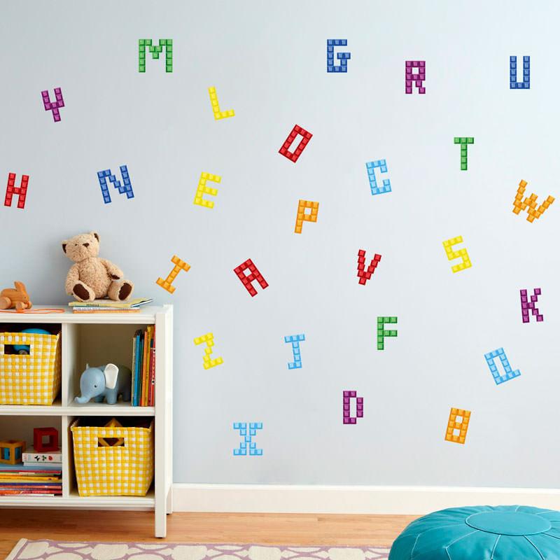 Adesivo Decorativo Alfabeto
