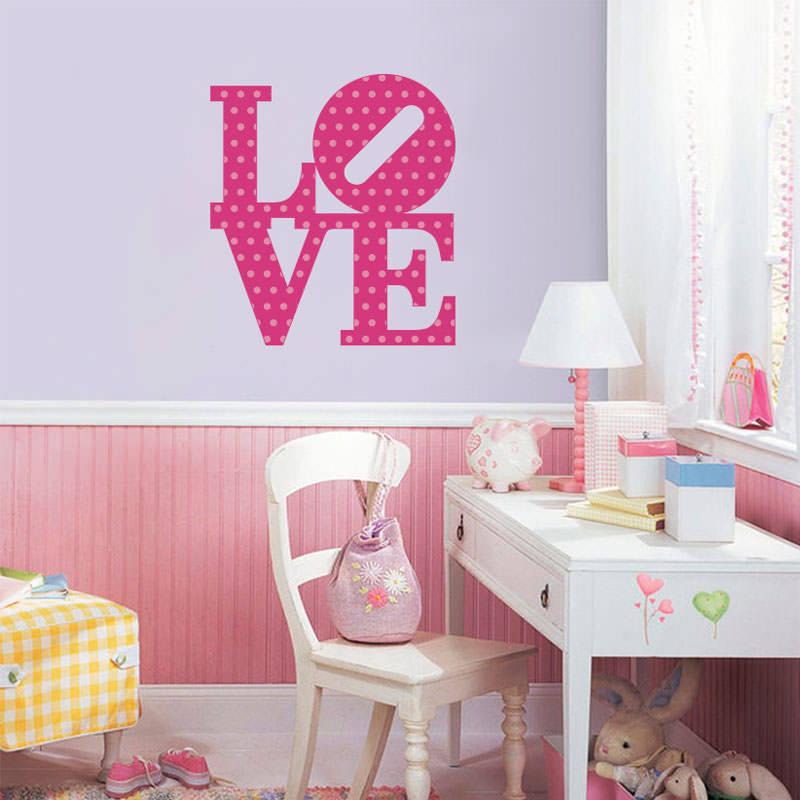 Adesivo de Parede Frase Love II