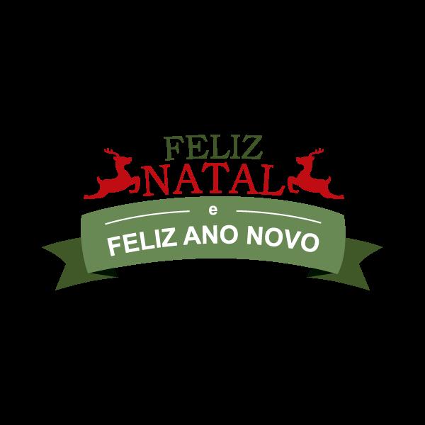 Adesivo de Parede Decorativo Renas Feliz Natal