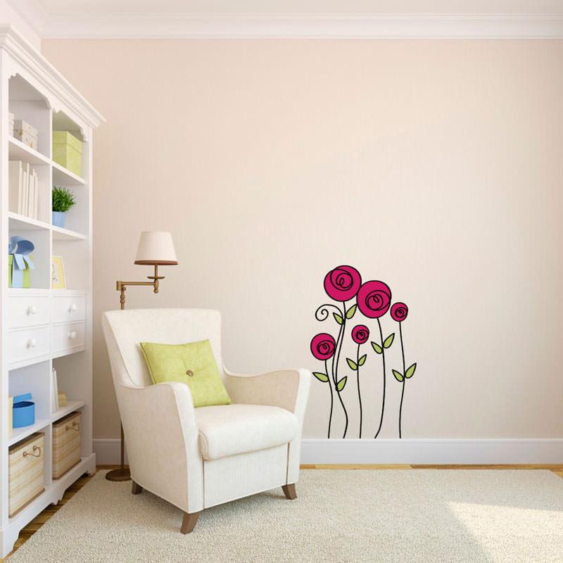Adesivo Decorativo Rosas