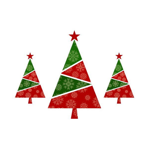 Adesivo de Parede Trio de Árvores de Natal