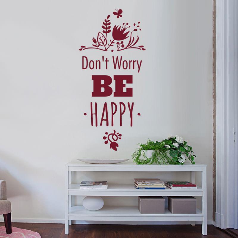 Adesivo Decorativo de Parede Dont Worry Be Happy