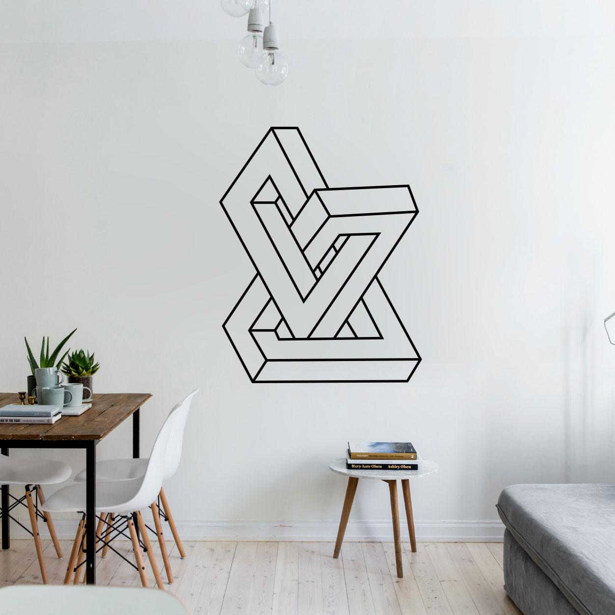 Adesivo de Parede Decorativo Escultura Abstrata