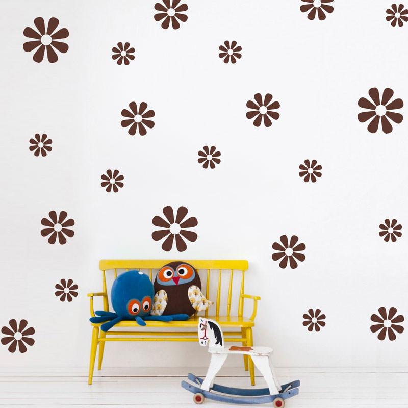 Artesanato Uberlandia ~ Adesivo de Parede Kit de Flores Margarida bemColar Adesivos De Parede