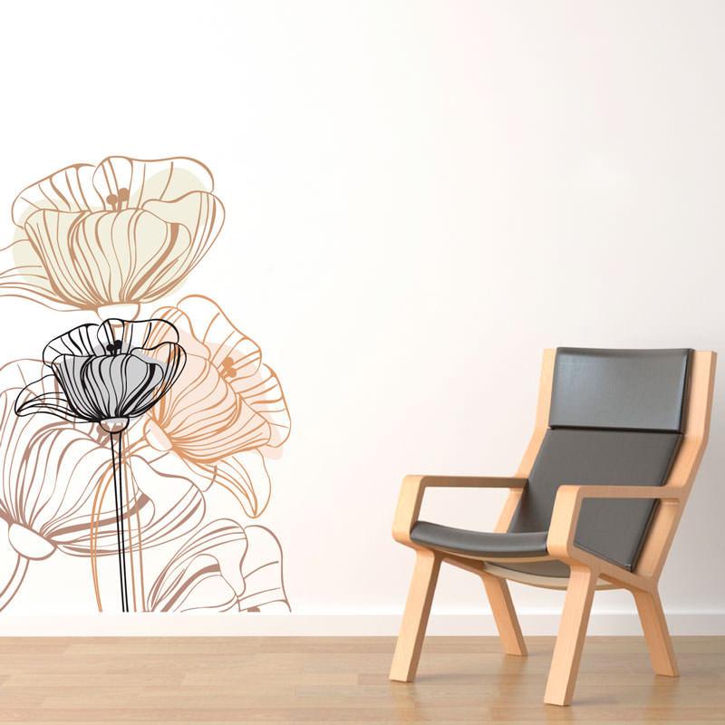 Adesivo Decorativo de Parede Flor