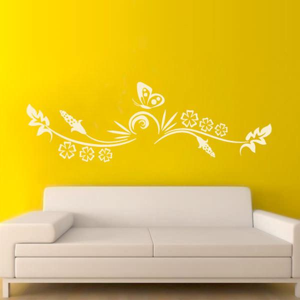 Adesivo de Parede Floral Abstrato