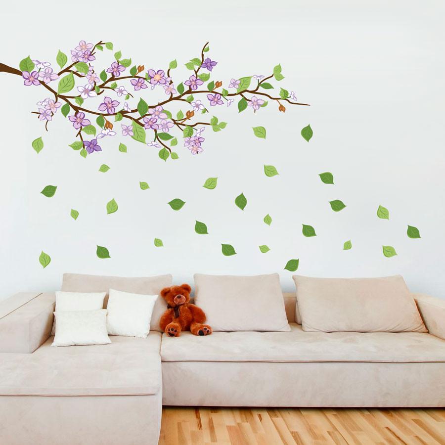 Armario Farmaceutico ~ Adesivo de Parede Galhada (Flor Lilás) Modelo Exclusivo BemColar