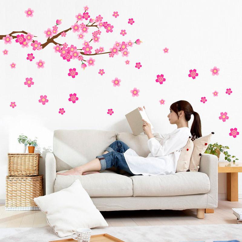Artesanato Uberlandia ~ Adesivo de Parede Galho de Flores bemColar Adesivos De Parede