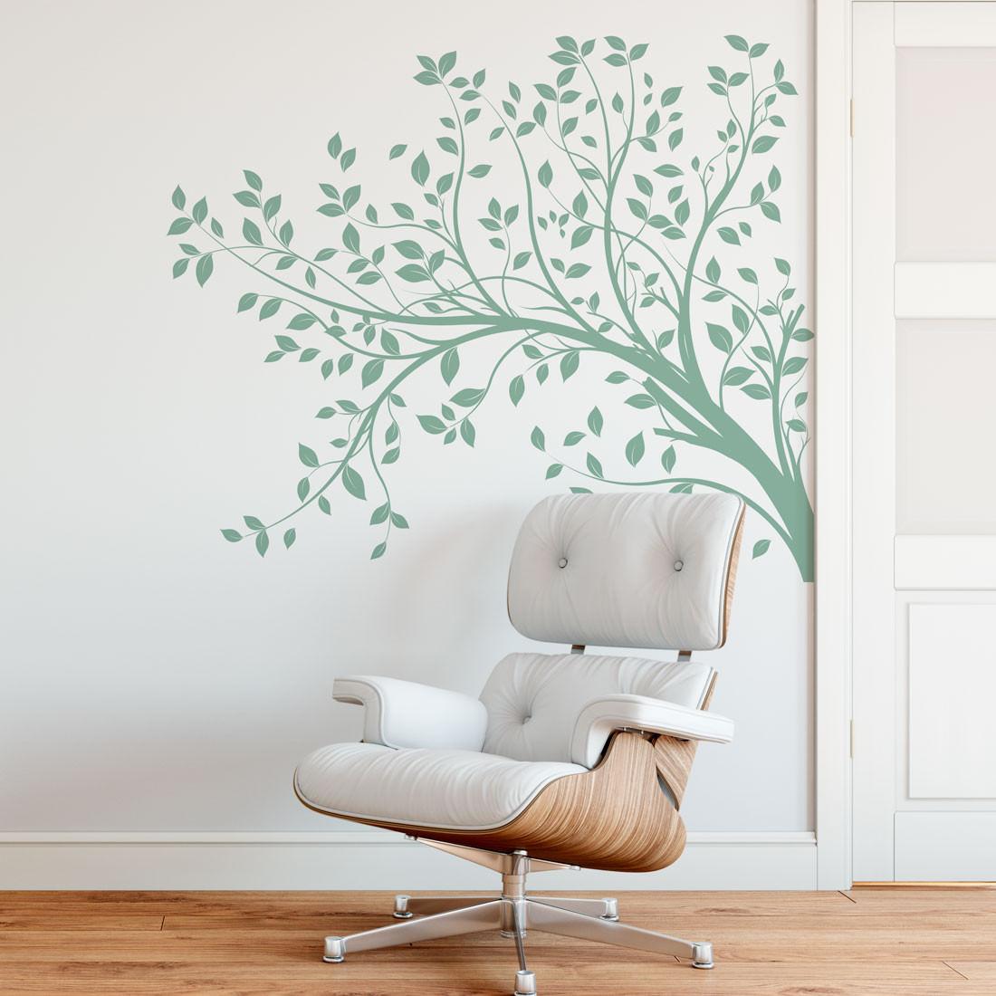 Adesivo Decorativo de Parede Galho Folhas Natureza