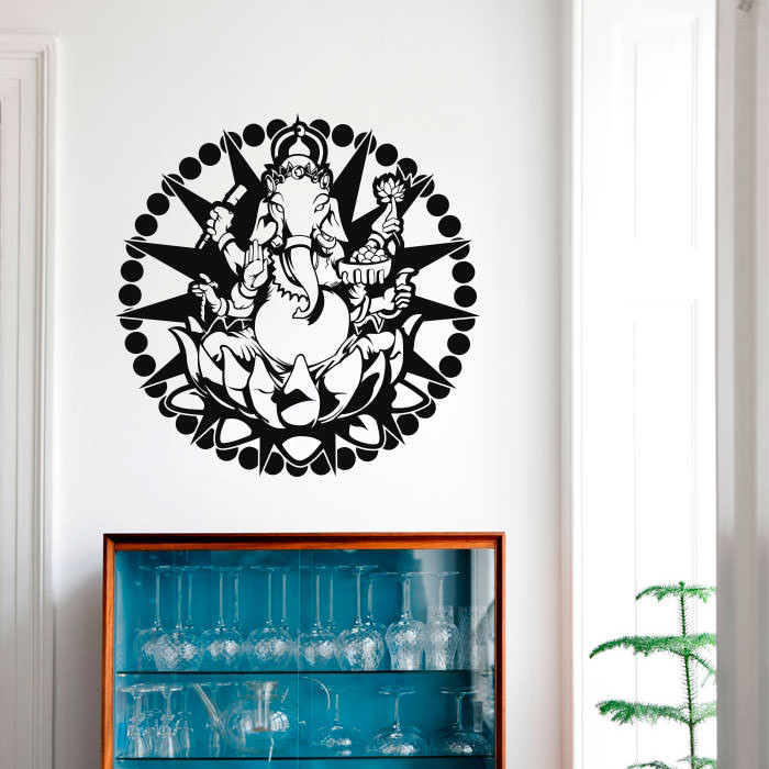 Adesivo Decorativo Indiano Ganesha