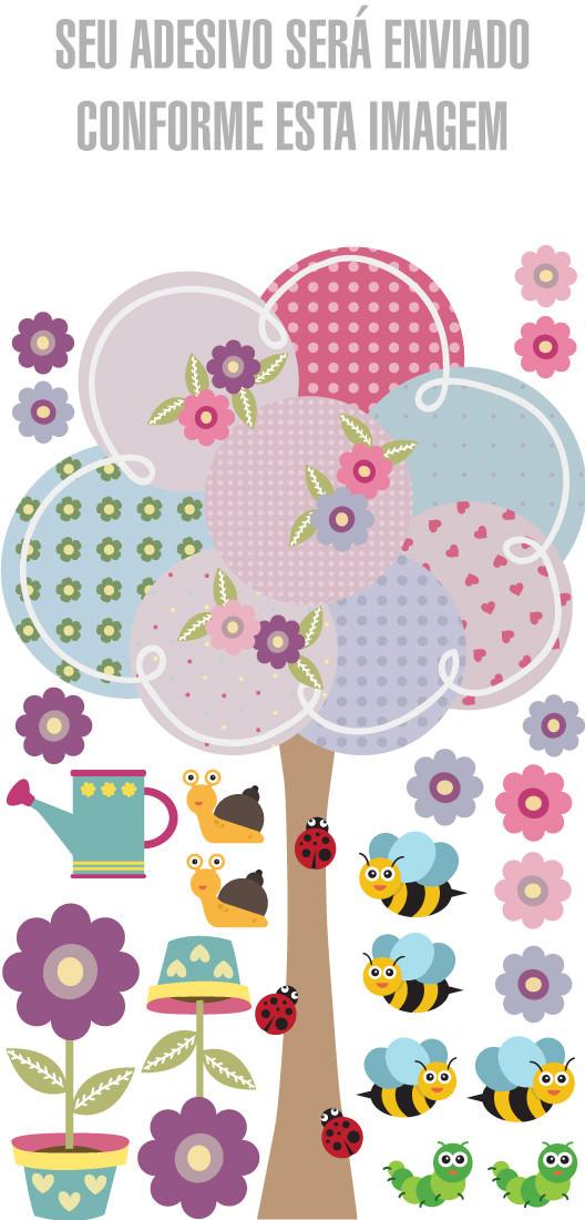 Adesivo de Parede Decorativo Infantil Árvore de Bolas