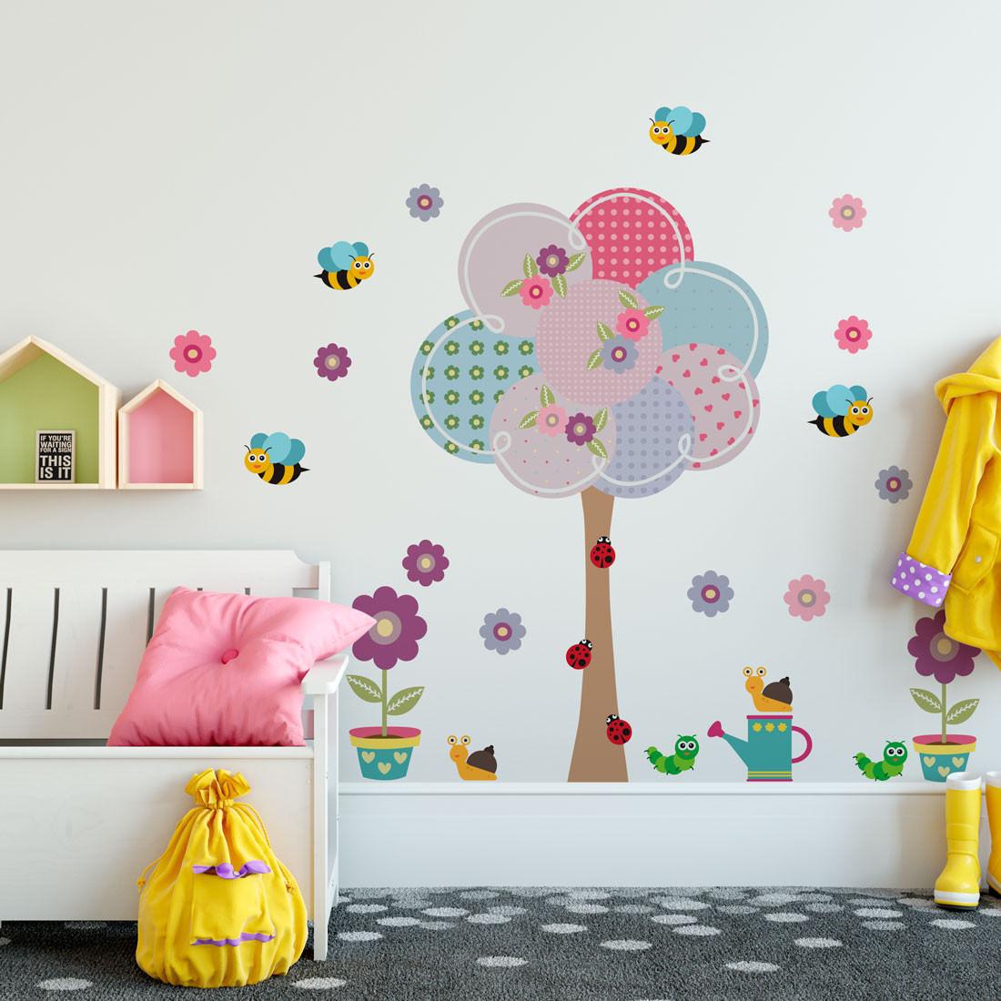 Adesivo Decorativo Infantil Árvore de Bolas