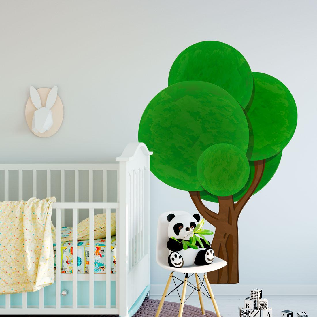 Adesivo de Parede Infantil Árvore Geométrica 3D