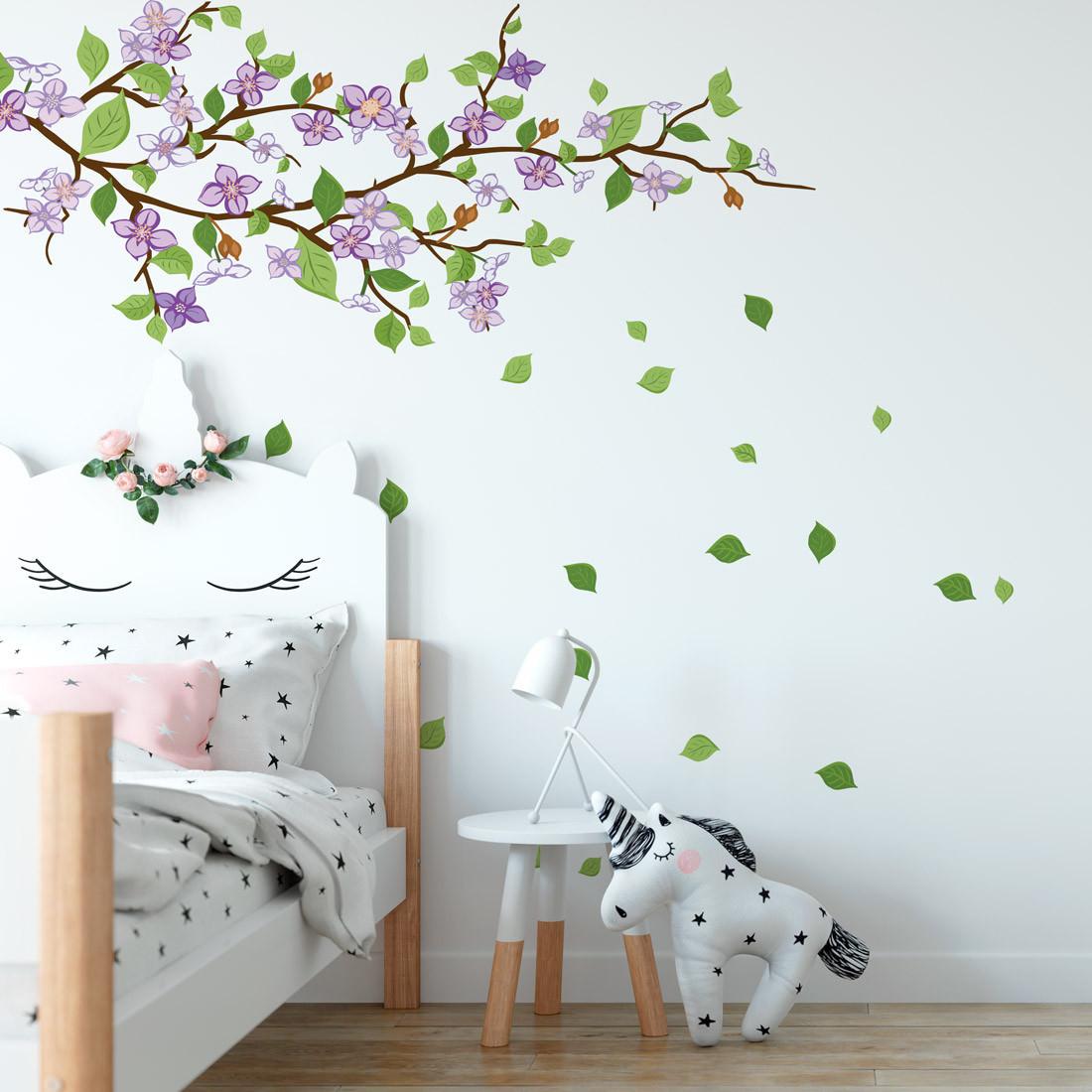 Adesivo de Parede Decorativo Galho Floral Infantil