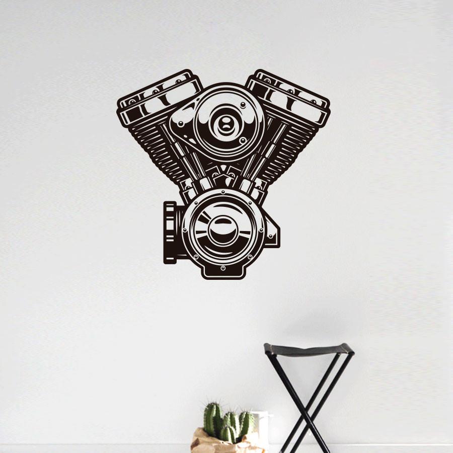 Adesivo de Parede Motor Harley Davidson