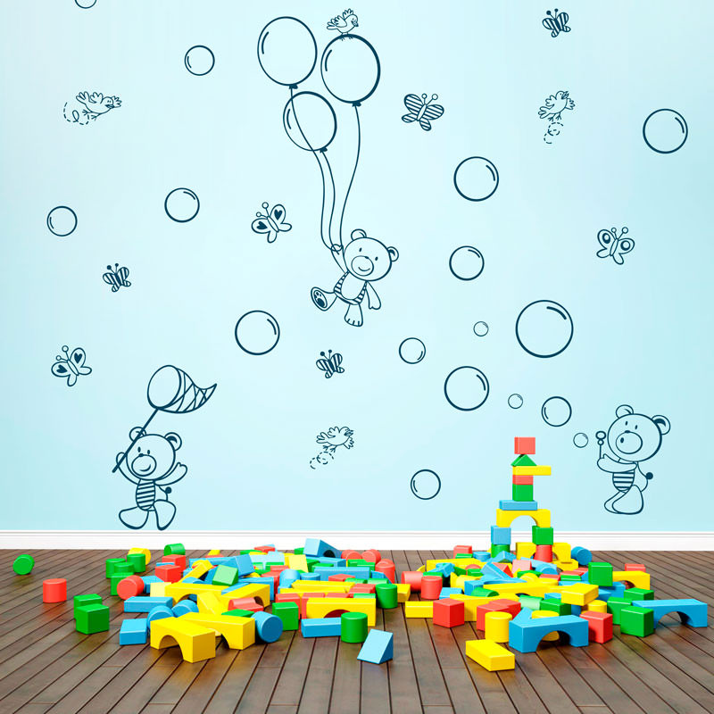 Adesivo Decorativo Urso Diversão