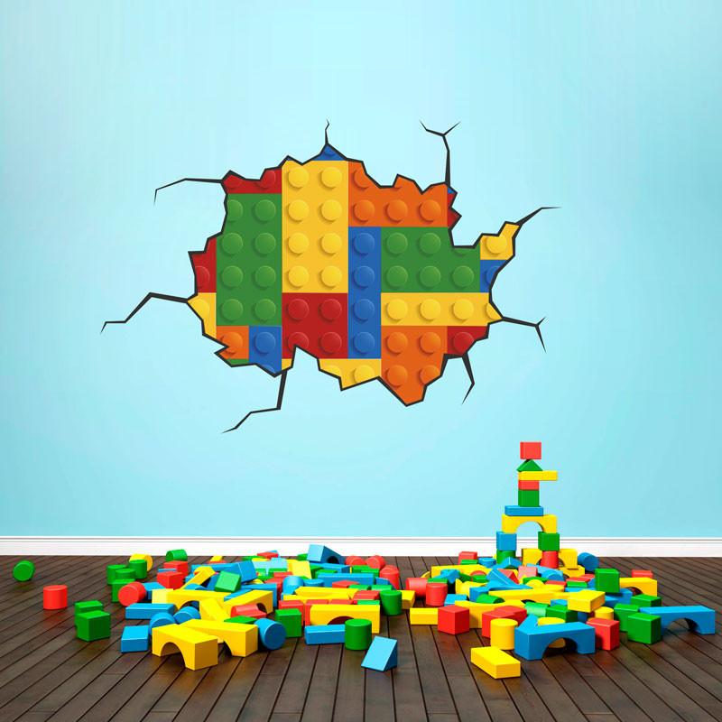 Adesivo de Parede Lego bemColar Adesivos De Parede