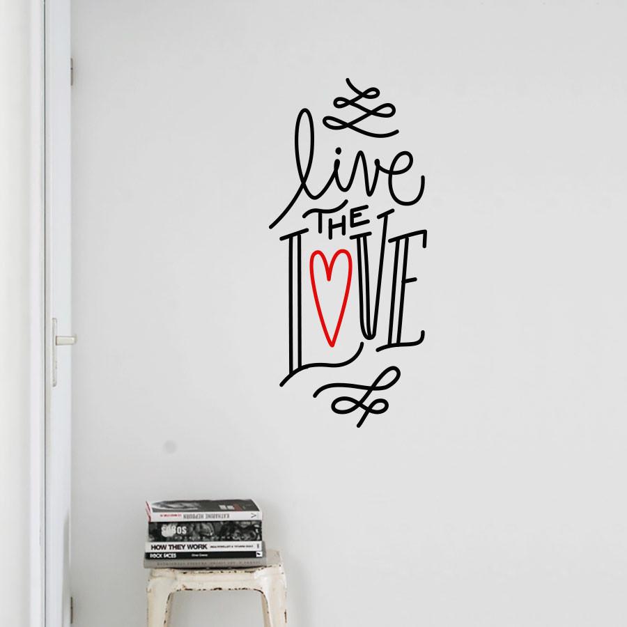 Adesivo de Parede Live The Love