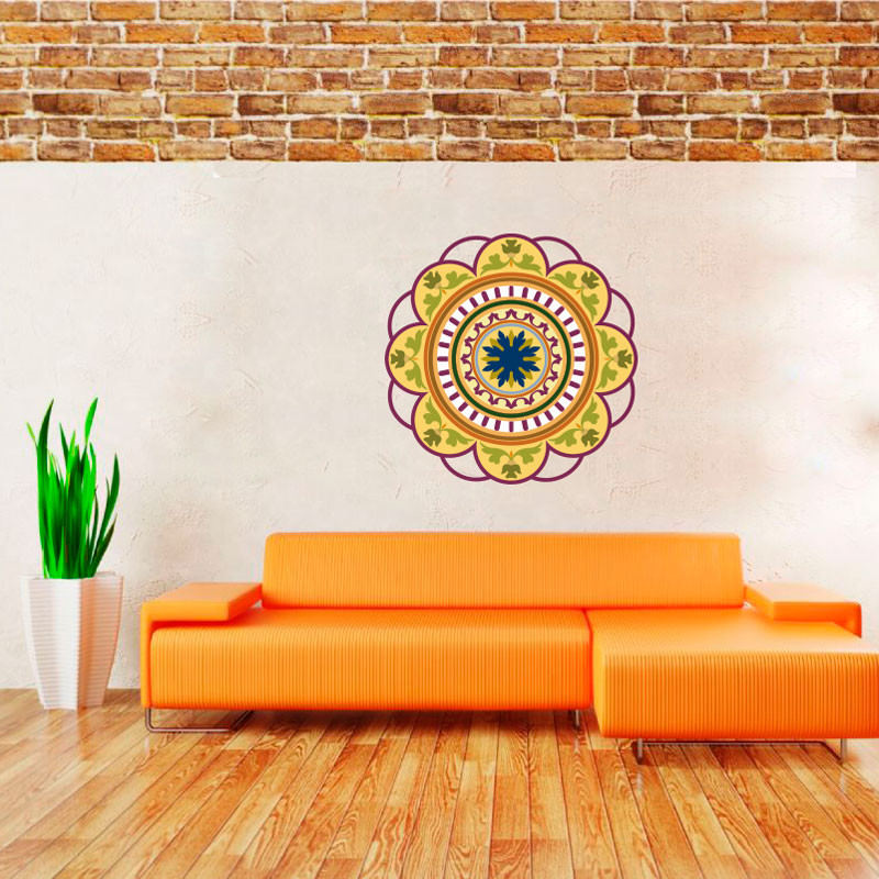 Armario Planejado Para Quarto Casal ~ Adesivo de Parede Mandala Colorida II bemColar