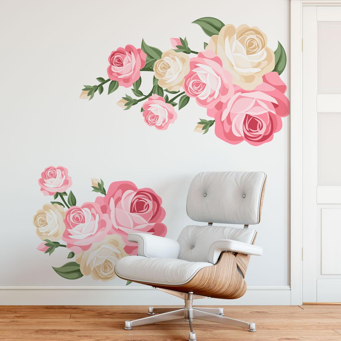 Adesivo de Parede Ramalhete de Rosas